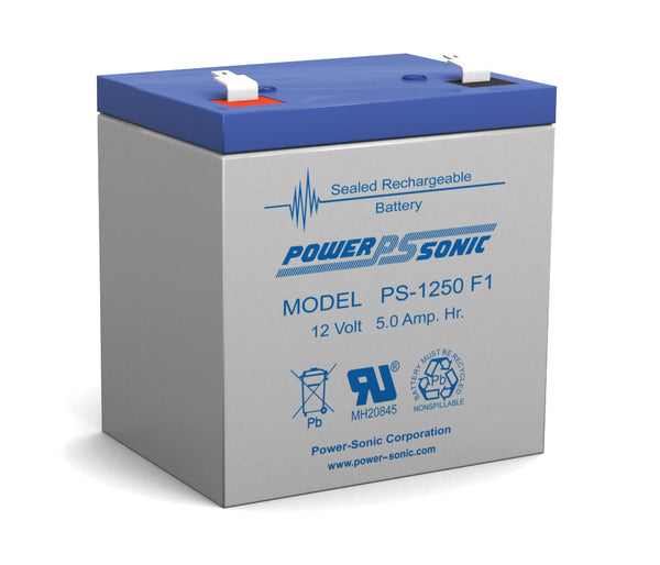 PS-1250 PS-1250F1- POWERSONIC 12V 5AH SLA BATTERY