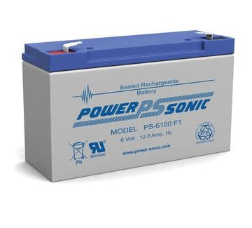 PS-6100 F1- POWERSONIC 6V 12AH SLA BATTERY