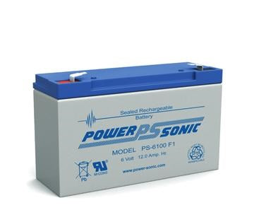 PS-6100 F2- POWERSONIC 6V 12AH SLA BATTERY