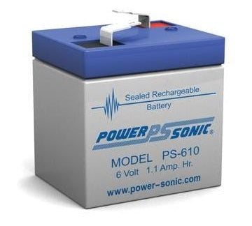 PS-610 - POWERSONIC 6V 1.1A SLA BATTERY
