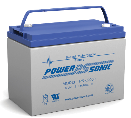 PS-62000 - POWERSONIC 6V 210AH SLA BATTERY