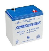 PS-6360NB - POWERSONIC 6V 36AH SLA BATTERY