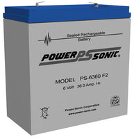 PS-6360F2 - POWERSONIC 6V 36AH SLA BATTERY