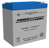 PS-665 - POWERSONIC 6V 6.5AH SLA BATTERY