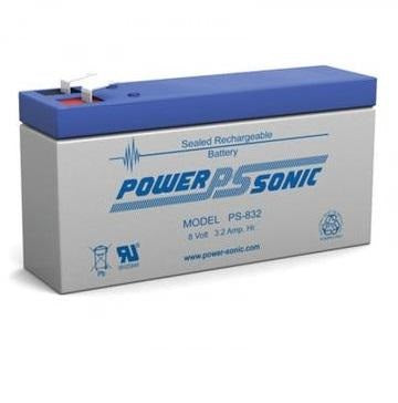 PS-832F - POWERSONIC 8V 3.2AH SLA BATTERY