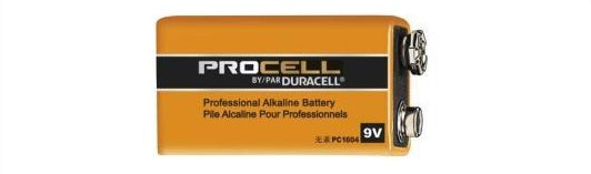 PC1604 9V DURACELL PROCELL ALKALINE BATTERY 12 pack