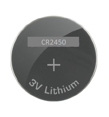 CR2450 3 Volt, 60 mAh, Lithium Coin Battery