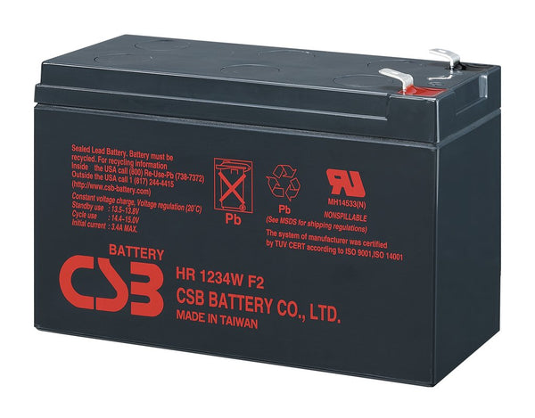 HR1224WF2F1 12V 6.6Ah 24W CSB Battery
