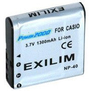 Casio NP-40 Replacemement Lithium Ion Battery-3.7V