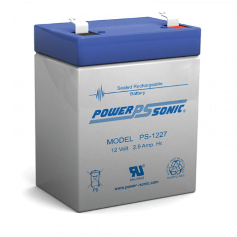 PS-1227 - POWERSONIC 12V 2.9AH SLA BATTERY