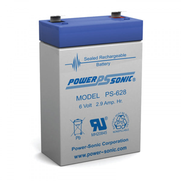 PS-628 - POWERSONIC 6V 2.9AH SLA BATTERY