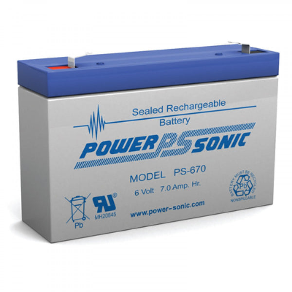 PS-670 - POWERSONIC 6V 7AH SLA BATTERY