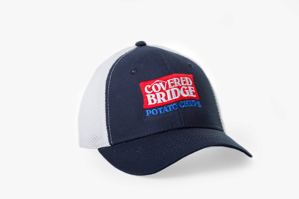 Covered Bridge Cap - Navy/White
