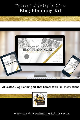 Project Lifestyle Club Blog Planning Kit