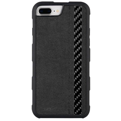 Apple iPhone 6/7/8 Plus Alcantara & Real Carbon Fibre Phone Case Armor Series