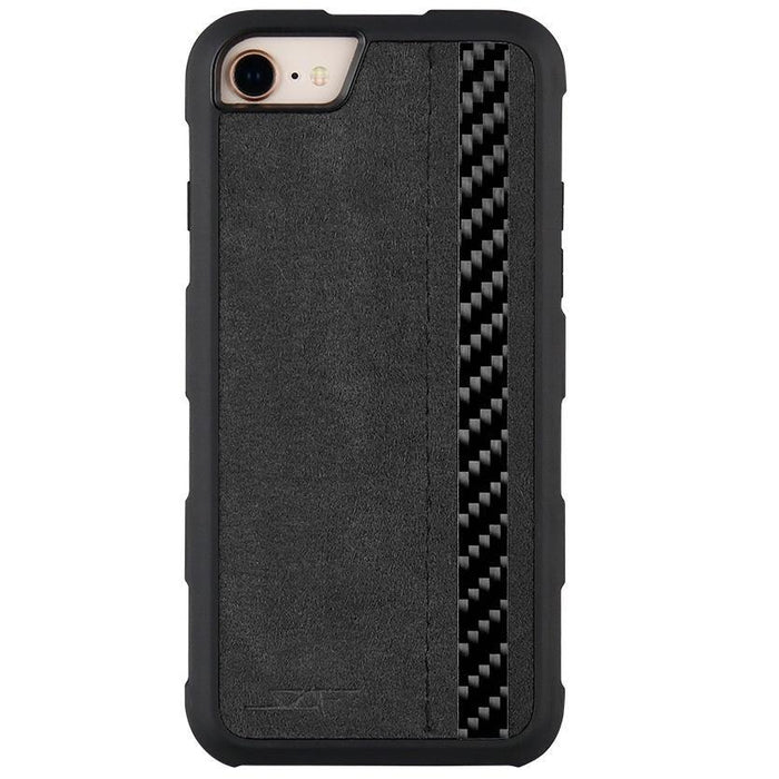 Apple iPhone 6/7/8 Alcantara & Real Carbon Fibre Phone Case Armor Series
