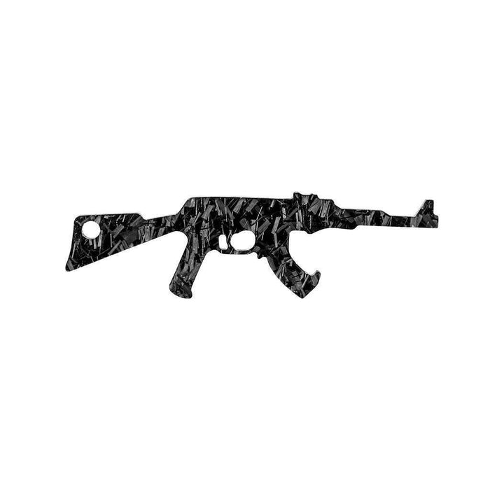 Forged Carbon Fibre Ak-47 Shaped Keychain & Bottle Opener (Limited Edition)