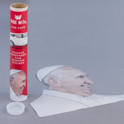 Ride With the Pope Window Sticker