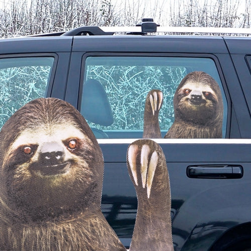 Ride With a Sloth Window Sticker