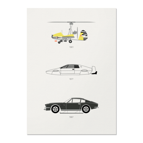 Live and Let Drive – James Bond Unframed Poster