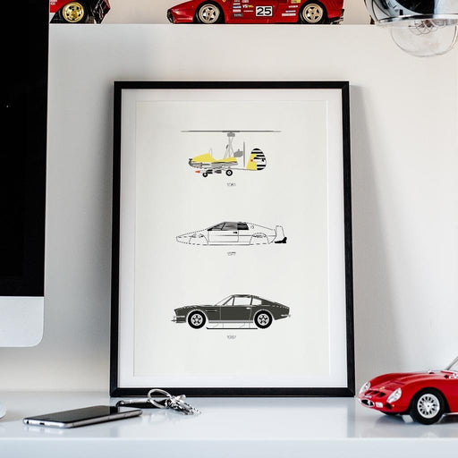 Live and Let Drive – James Bond Framed Poster