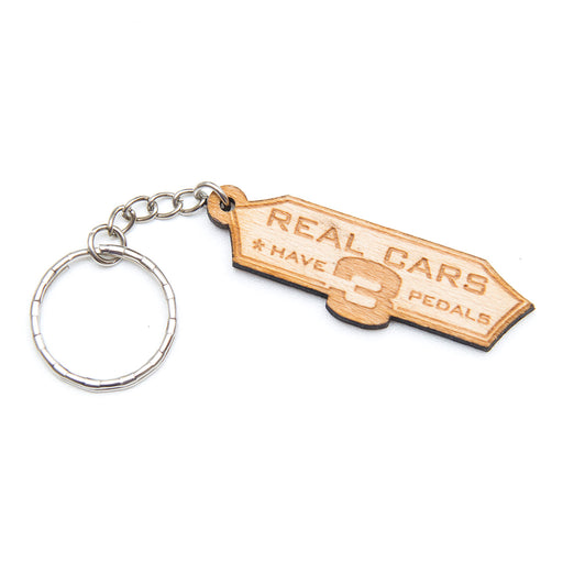 Real Cars Have 3 Pedals Keychain