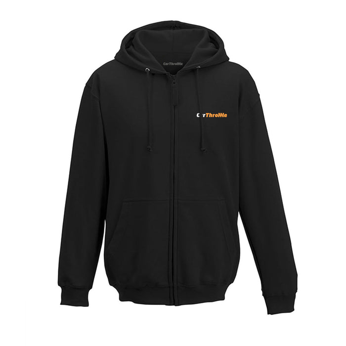 Embroidered Logo Zipped Hoodie