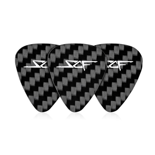 Real Carbon Fibre Guitar Pics (Pack Of 3)