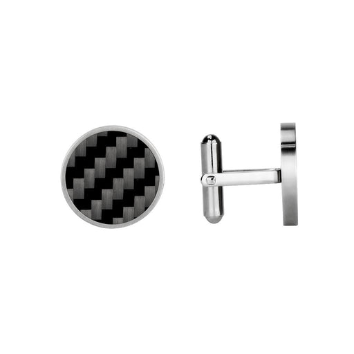 Real Carbon Fibre Cufflinks