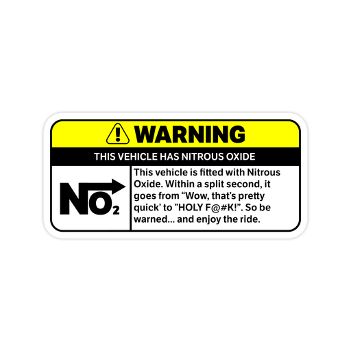 NO2 Warning Sticker