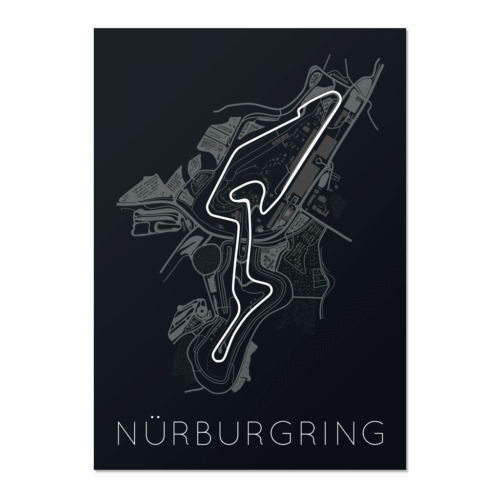 Titan of Tracks – Nürburgring Unframed Poster