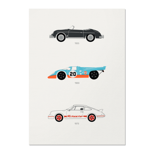 A Thoroughbred Drive – Porsche Unframed Poster