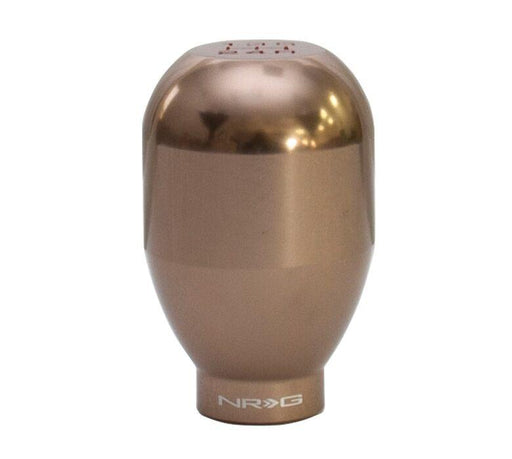 NRG 42mm Shift Knob - 5 Speed Dark Titanium Aluminum Heavy Weight Universal - (480G / 1.1Lbs)