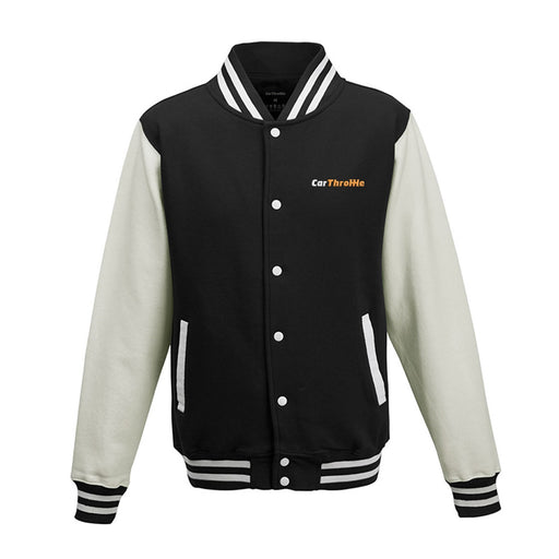 Car Throttle Embroidered Logo Varsity Jacket