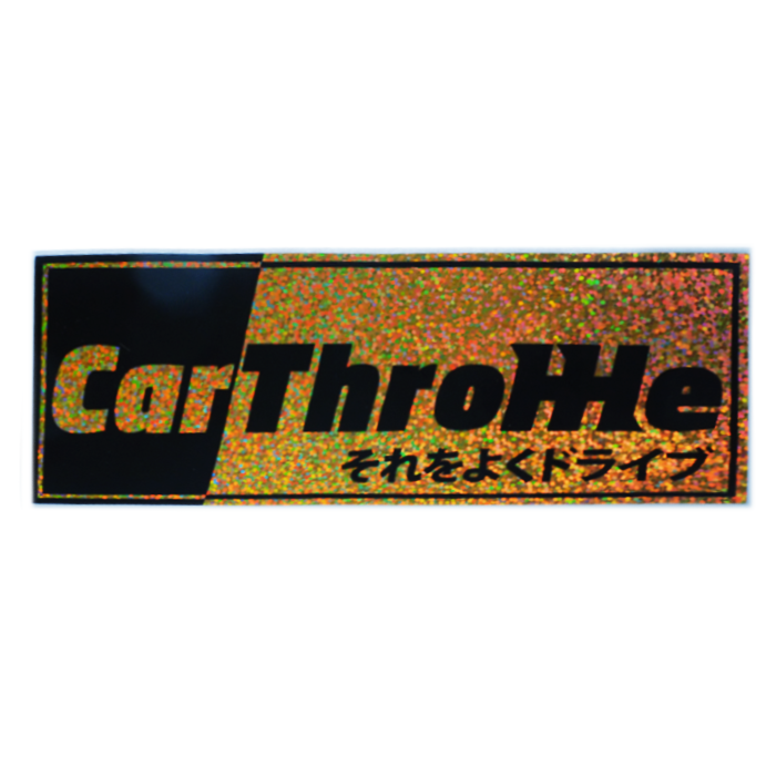 Car Throttle Logo Glitter Slap Sticker