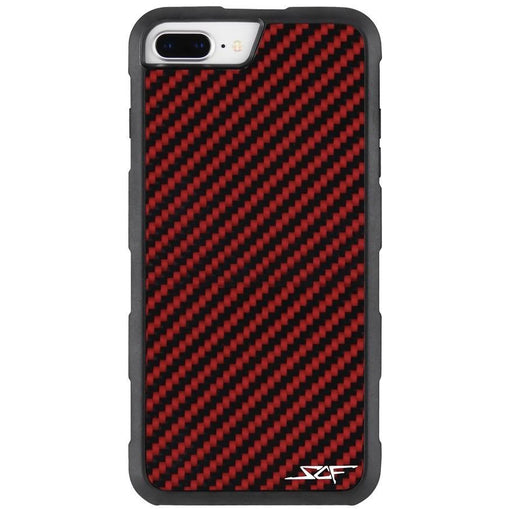 Apple iPhone 6/7/8 Plus Red Carbon Fibre Phone Case  Armor Series