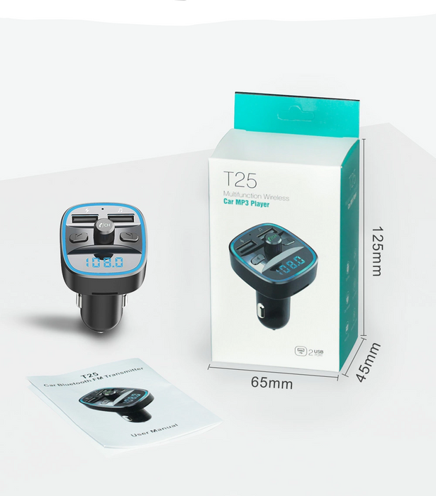 Bluetooth 5.0 FM Transmitter (With Quick Charge)
