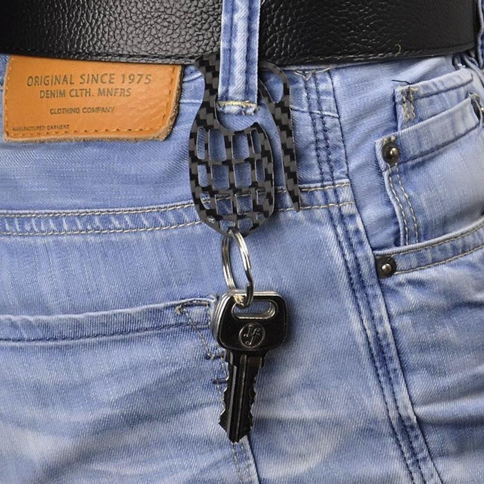 Real Carbon Fibre Grenade Shaped Key Holder (Limited Edition)