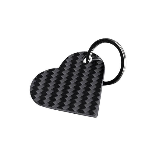 Real Carbon Fibre Heart Shaped Keychain
