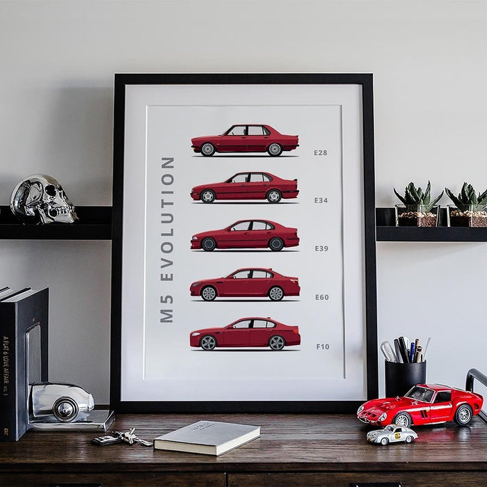 BMW M5 Generations Poster