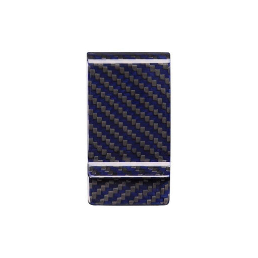 Blue Carbon Fibre Money Clip