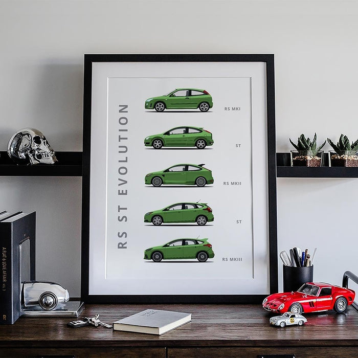 Ford Focus RS Generations Poster
