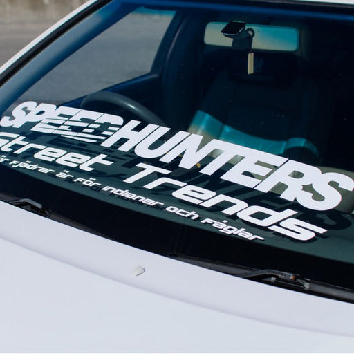 Speedhunters White Windshield Sticker