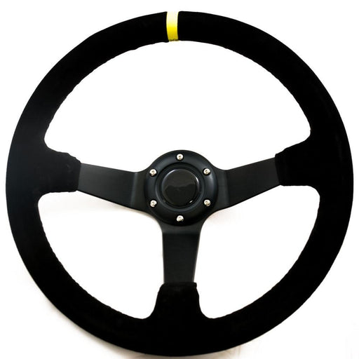 Suede Deep Dish Steering Wheel