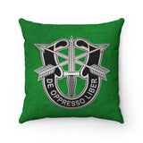 "10th Special Forces Insignia Spun Polyester Square Pillow Home Decor Printify 14"" × 14"""