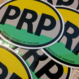 People's Republic of Pineland Oval Travel Sticker - American Marauder