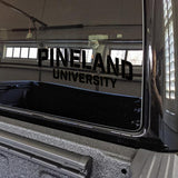 Pineland University Vinyl Cut Sticker Stickers American Marauder BLACK 10""