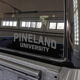 Pineland University Vinyl Cut Sticker Stickers American Marauder GREY 10""