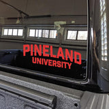 Pineland University Vinyl Cut Sticker Stickers American Marauder RED 10""