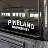 Pineland University Vinyl Cut Sticker Stickers American Marauder WHITE 10""